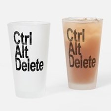 Control Alt Delete Drinking Glass