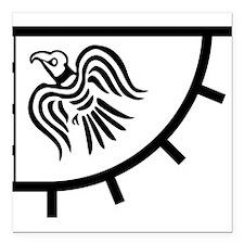 "Gunnhrafn Logo Square Car Magnet 3"" x 3"""