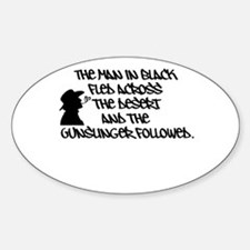 The Man in Black... Oval Decal