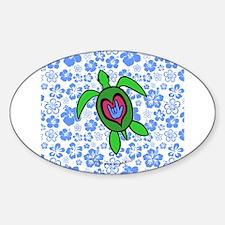 ILY Hawaii Turtle Decal
