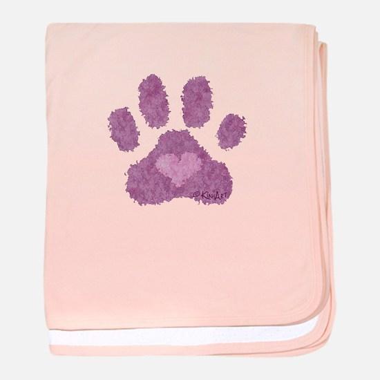 Pink Posh Paw baby blanket