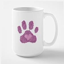 Pink Posh Paw Large Mug