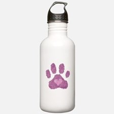 Pink Posh Paw Sports Water Bottle