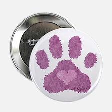 """Pink Posh Paw 2.25"""" Button"""