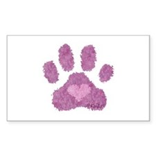 Pink Posh Paw Decal