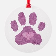 Pink Posh Paw Ornament