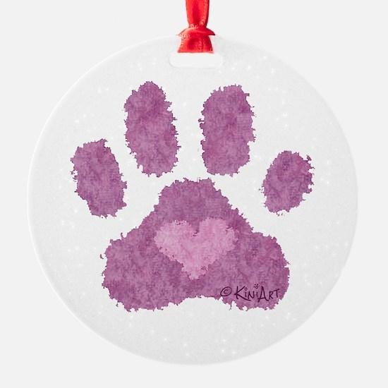 Pink Posh Paw Ornament