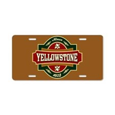 Yellowstone Old Label Aluminum License Plate