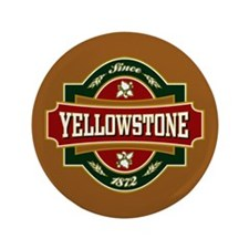 "Yellowstone Old Label 3.5"" Button"