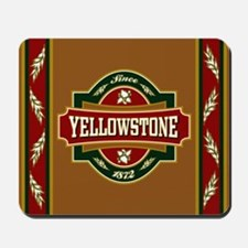 Yellowstone Old Label Mousepad