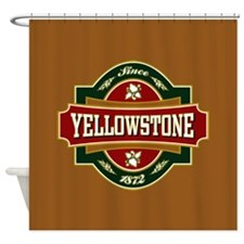 Yellowstone Old Label Shower Curtain