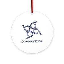 Vintage Breckenridge Ornament (Round)