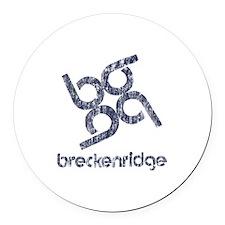 Vintage Breckenridge Round Car Magnet