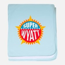 Super Wyatt baby blanket