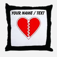 Custom Red Heart Throw Pillow