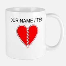 Custom Red Heart Small Small Mug