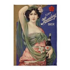 Japan, Beer, Vintage Poster 5'x7'Area Rug