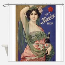 Japan, Beer, Vintage Poster Shower Curtain