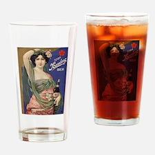 Japan, Beer, Vintage Poster Drinking Glass