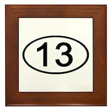 Number 13 Oval Framed Tile