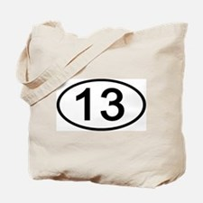 Number 13 Oval Tote Bag