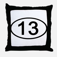 Number 13 Oval Throw Pillow