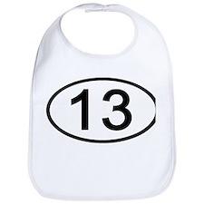 Number 13 Oval Bib