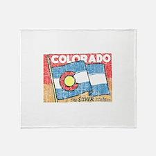 Vintage Colorado Throw Blanket