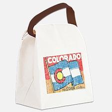 Vintage Colorado Canvas Lunch Bag