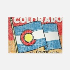 Vintage Colorado Rectangle Magnet