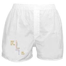 Cute Seek, attack, destroy Boxer Shorts