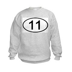 Number 11 Oval Sweatshirt