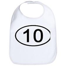 Number 10 Oval Bib