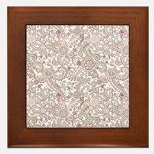 Careful Embroidery Framed Tile