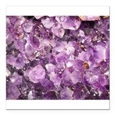 Beautiful Photo of Purple Amethyst Crystals Square
