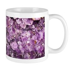Beautiful Photo of Purple Amethyst Crystals Mug
