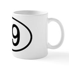 Number 09 Oval Mug