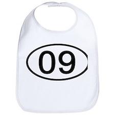 Number 09 Oval Bib