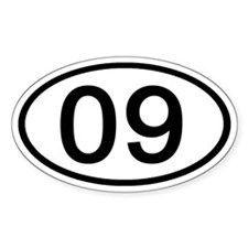 Number 09 Oval Oval Decal