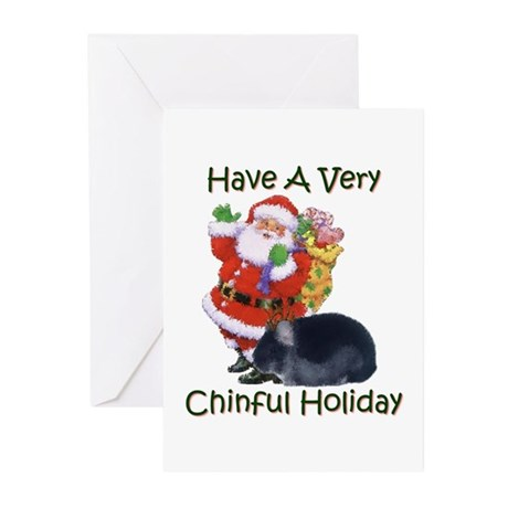 Chinful Holiday - Greeting Cards (Pk of 10)