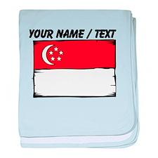 Custom Singapore Flag baby blanket
