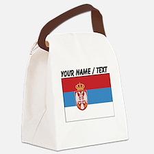 Custom Serbia Flag Canvas Lunch Bag