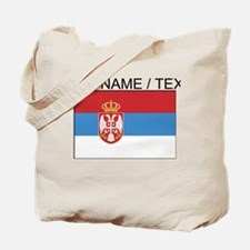 Custom Serbia Flag Tote Bag