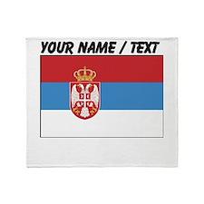 Custom Serbia Flag Throw Blanket