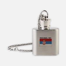 Custom Serbia Flag Flask Necklace
