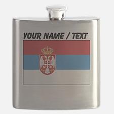 Custom Serbia Flag Flask