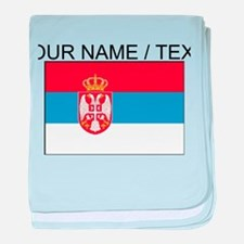 Custom Serbia Flag baby blanket