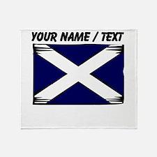 Custom Scotland Flag Throw Blanket