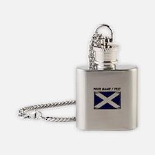 Custom Scotland Flag Flask Necklace