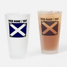 Custom Scotland Flag Drinking Glass